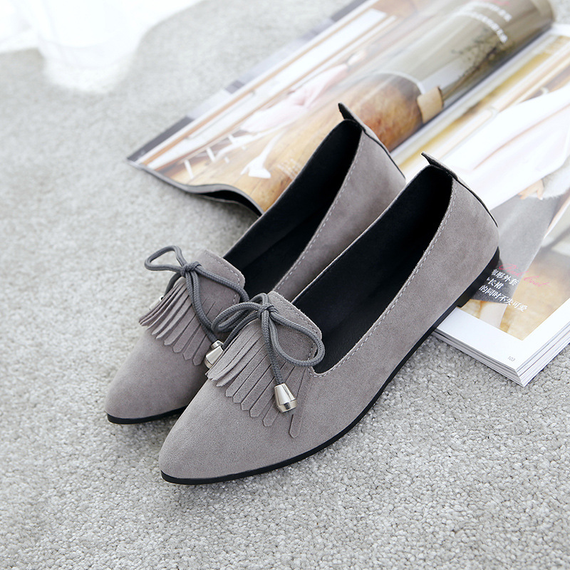 2018 Women Loafers Tassel Fashion Round Toe Ladies Comfortable Flat Shoes Spring Summer Woman Sweet Bowtie Flats Casual Shoes fashion loafers women flat platform shoes moccasins air mesh round toe ladies footwear women summer casual shoes female dc64