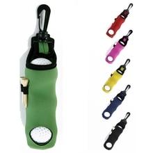 Переносная маленькая сумка для гольфа, держатель для тройников, чехол для хранения, неопреновый чехол с поворотным креплением для поясного ремня-Выберите цвета