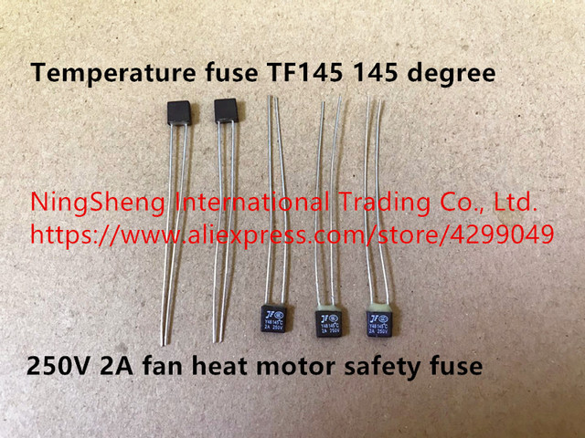 Original new 100% temperature fuse TF145 145 degree 250V 2A fan heat motor safety fuse