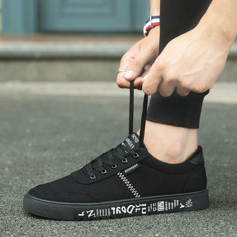 2018 лято нови платно обувки мъже - Мъжки обувки - Снимка 3