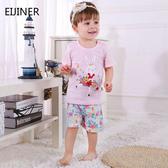 b36d68993 Ropa de bebé niñas verano 2019 nuevo bebé niño ropa conjunto algodón recién  nacido Niñas Ropa