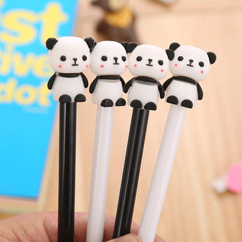 1pcs Bear  Gel Pen 0.5mm  Kawaii Pen Novelty Stationery Cute Shake Pens Student Black Signing Gens Pens Kawaii School Supplies