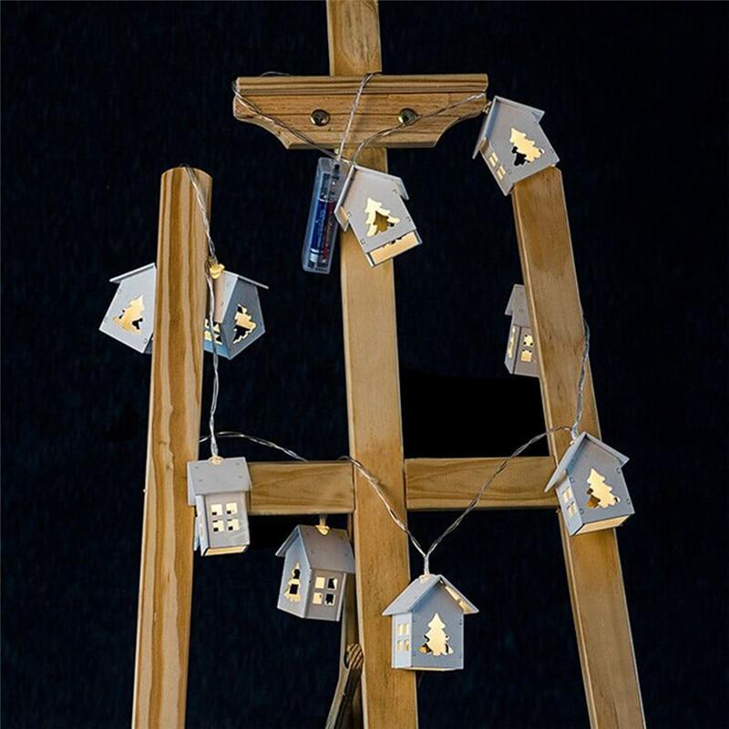 LumiParty aku operatsioon Puidust jõulupuu keelpillid, millel on 10 - Puhkusevalgustus - Foto 2