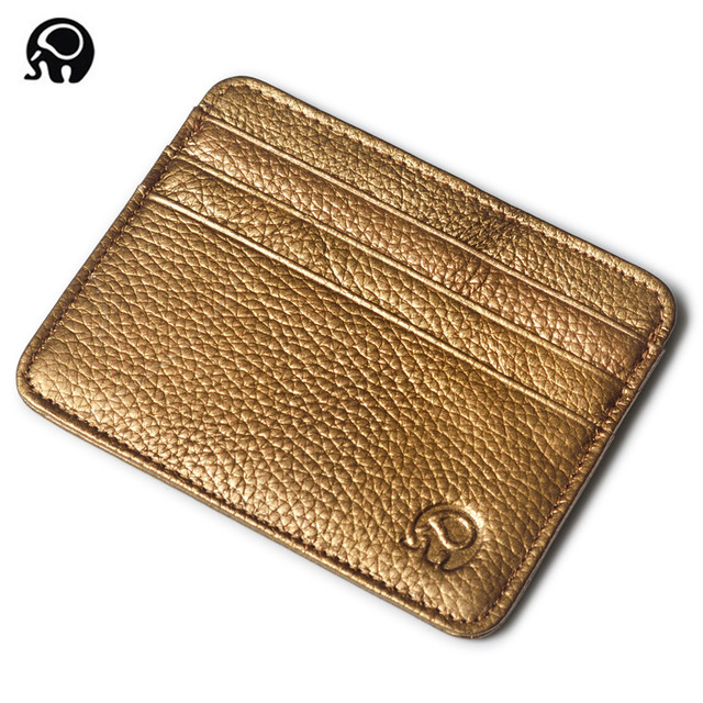 men Wallet Business Card Holder bank cardholder leather cow pickup package bus card holder Slim leather multi-card-bit pack bag 1