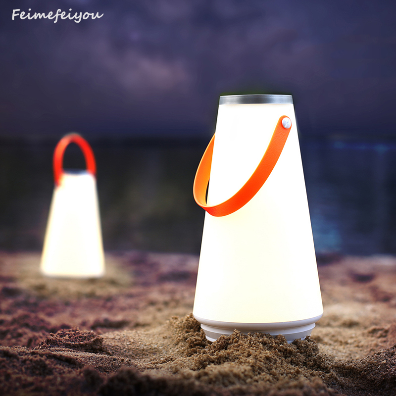 Feimefeiyou Kreatif Indah Portabel Luar LED Night Light USB Rechargeable Touch Dimmer Table camping hadiah terbaik