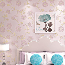 European Damascus flowers new non-woven wallpaper Living room TV wall background 3d wallpaper moisture-proof thick floral mural
