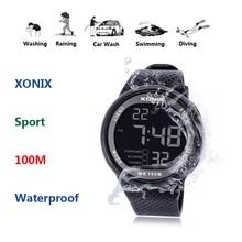 2020 New Brand  Watch Men Military Sports Watches Fashion PU   Waterproof LED Digital Watch For Men Clock digital watch  GJ