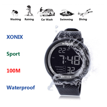 2020 nowy zegarek marki wojskowi zegarki sportowe moda PU wodoodporny zegar cyfrowy zegarek LED dla mężczyzn cyfrowy zegarek GJ