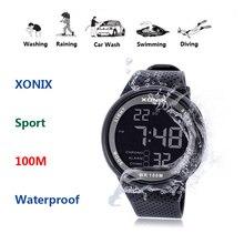 2020 العلامة التجارية الجديدة ساعة الرجال الساعات الرياضية العسكرية موضة PU إضاءة مقاومة للماء ساعة رقمية للرجال ساعة رقمية GJ