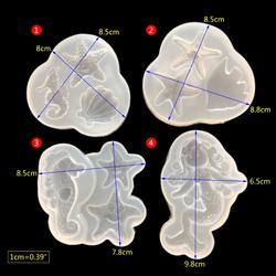 Shell Русалка звезды Фондант 3D зеркало DIY силиконовые формы для Подвеска ювелирных изделий инструмент изделия ремесла смолы формы