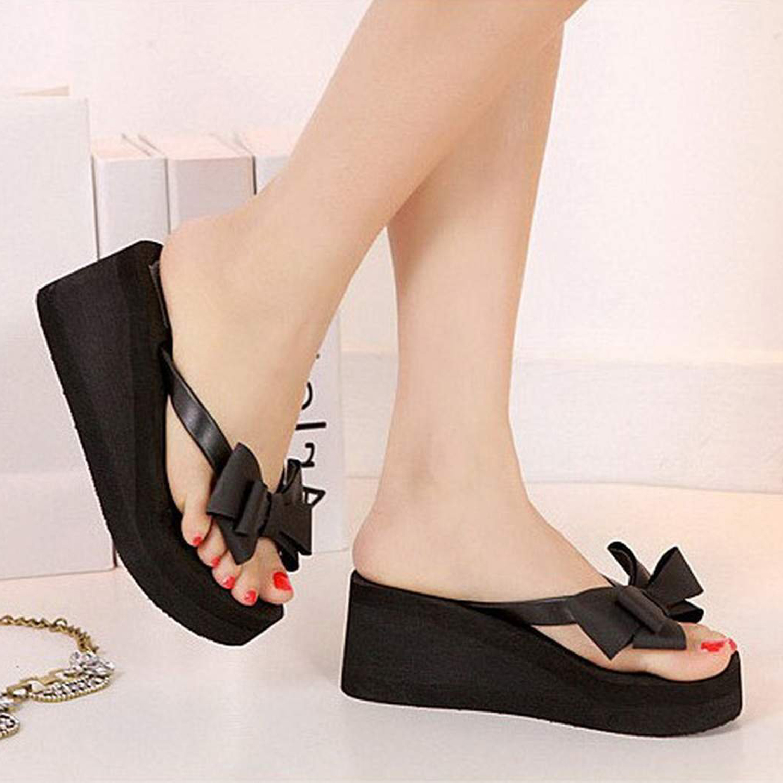 Shoes sandals flip flops - Scyl 1pair Summer Fashion Women Shoes Sandalet Knotbow Sandals Shoes Beach Flat Wedges Flip Flops Womens Platform Flip Flops