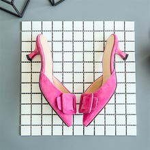 Fashion Women Slippers Pointed Toe Slingback Pumps Buckle Slides Backless Dress Sandals Kitten Heeled Slippers Women