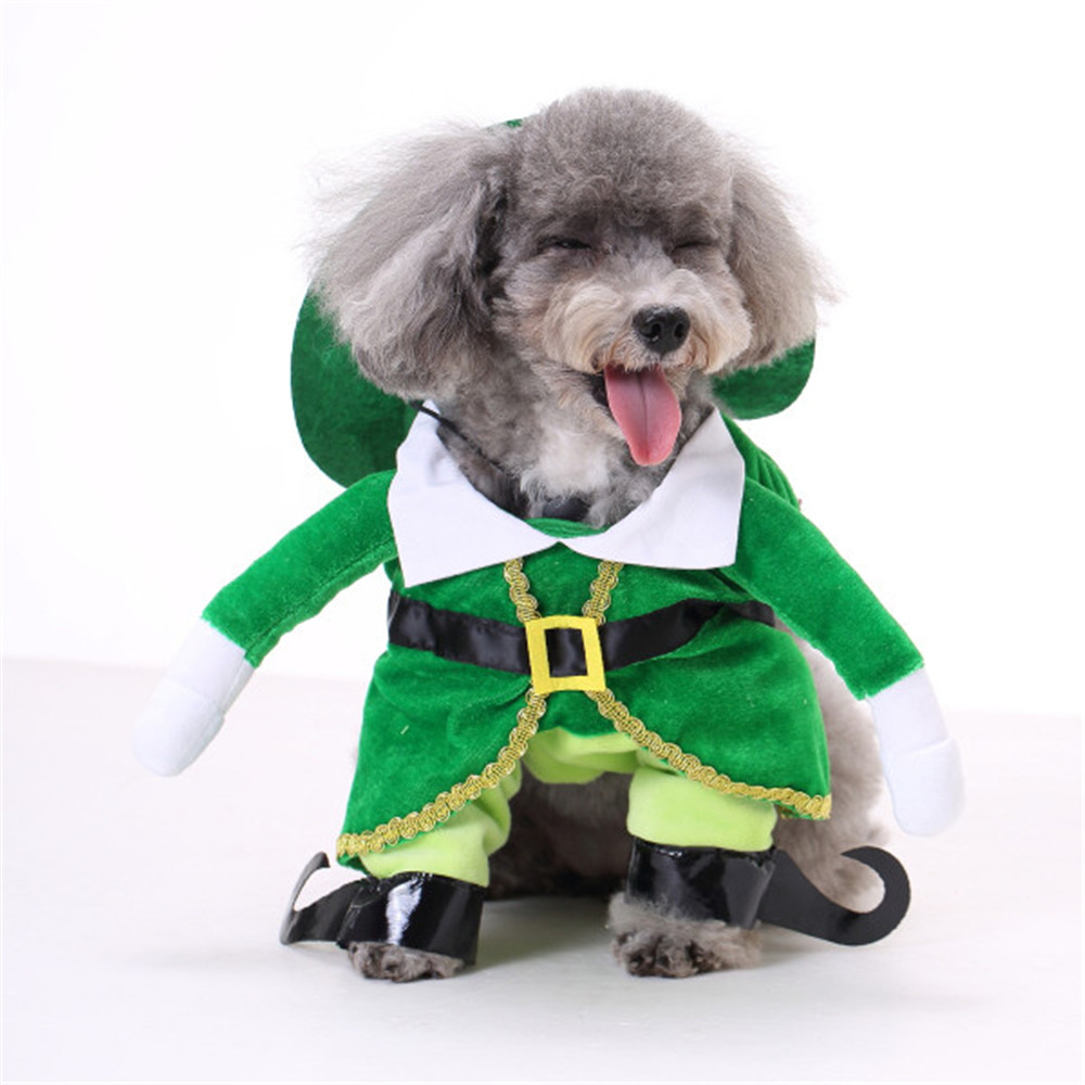 New S/M/L/XL Pet Dog Winter Clothes Jacket Coat Vest Puppy Cat Sweater Hoodie Apparel Coseplay Prince With Hat 1124