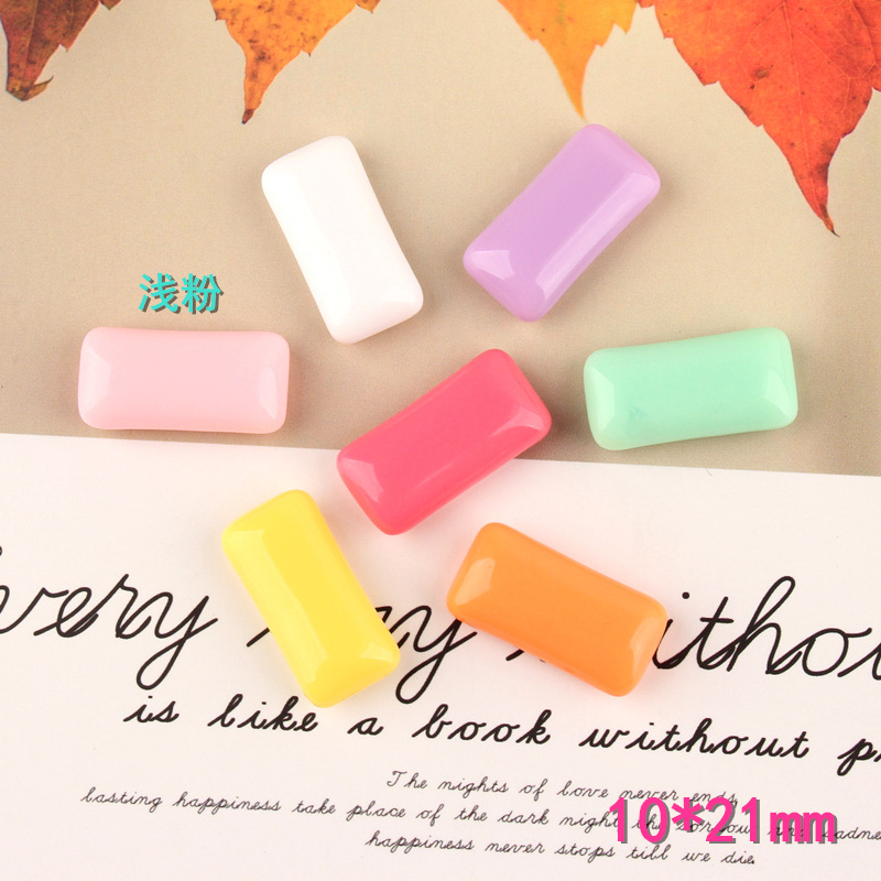 50pcs Lot 10 21mm Solid Colors Chewing Gum Candy Rectangle Shape