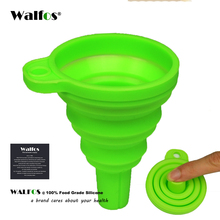 WALFOS food grade 1 piece Mini Silicone Gel Foldable Collapsible Style Funnel Hopper Kitchen garden cooking accessories tools