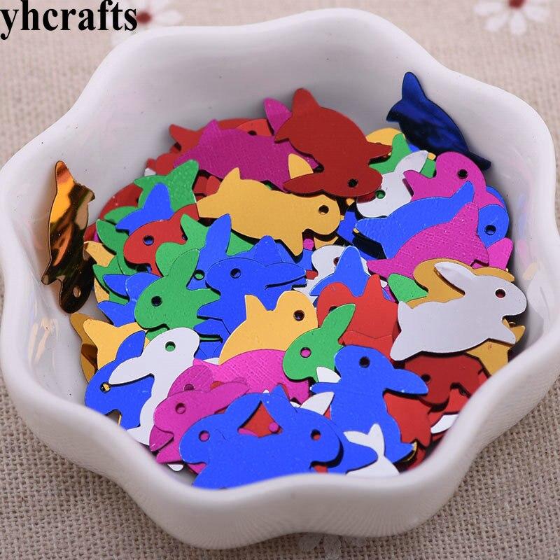 20gram/Lot Easter Rabbit Sequins.Craft Material Kindergarten Arts And Crafts DIY Toy Intelligence Creative Activity Item OEM
