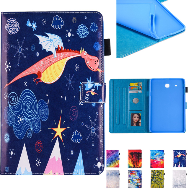 Case For Samsung Tab E 9.6 T560 Stand Flip Fundas Case For Coque Samsung Galaxy Tab E 9.6 T560 T561 SM-T560 Tablet Cover
