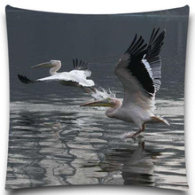 Bird in fishing Cotton Polyester square 5 size 9 style Pillows Case for Sofa Car Cushion Cover