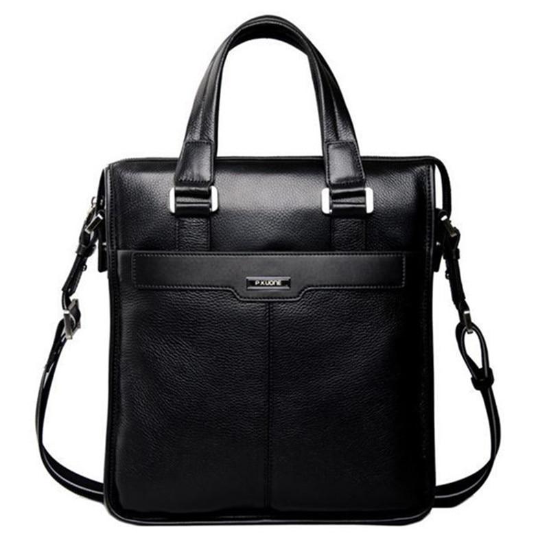 ФОТО P.kuone 2017 New brand men bag handbag genuine leather bag cowhide leather men briefcase business casual men messenger bags