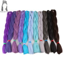 1pack 24inch 80g 90colors in stock high tempreture synthetic fiber jumbo braiding hair for small box braids and twist