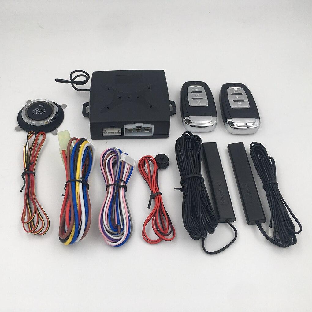 Détection de pompe à huile de voiture 12 V + 3 V sécurité intelligente entrée sans clé système d'alarme à distance démarrage à un bouton