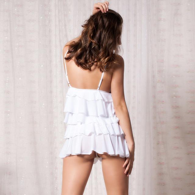 White Temptation Slip Harness Dress