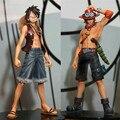 16 см ПВХ One Piece Луффи и Ace Фигурку Игрушки, 6.3 inch One Piece Рис Модель, аниме Brinquedos, игрушки Для Детей