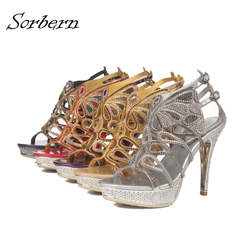 Fashion Crystal Women Sandals Sandalia Feminina Sandalias Mujer Beads 2018 New Arrive Real Image Bridal Shoes Sandals Women New new arrive women