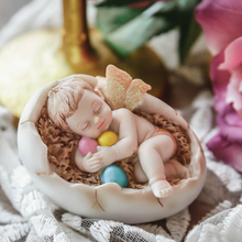 Europe Synthetic resin Angel doll Lovely cartoon Baby sleep miniature figurines tabletop crafts Children's room decoration