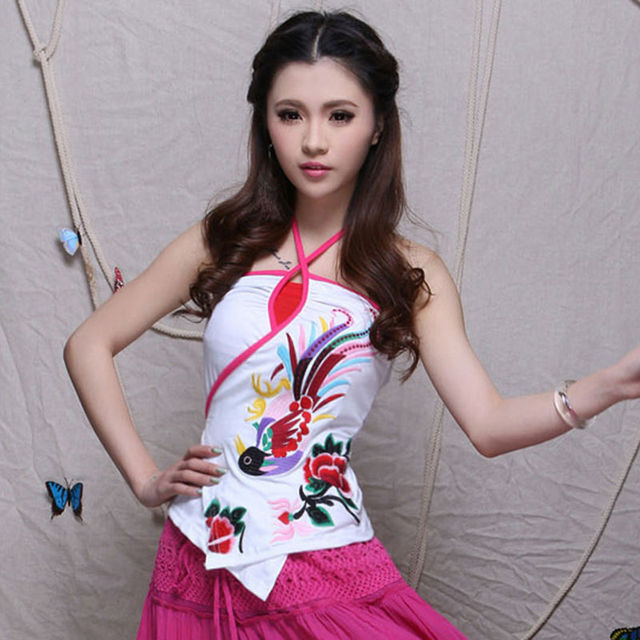 2017 New Product Most Popular Pure Cotton Women Tops Girl's Favorite Chinese Style Retro Embroider Vests Elegance Temperament