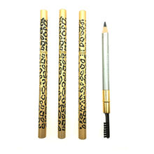 New Eyebrow Pencil & Brush eyebrow enhancer Longlasting makeup pencil to eye Two Sides With Brush Design Metal Casing