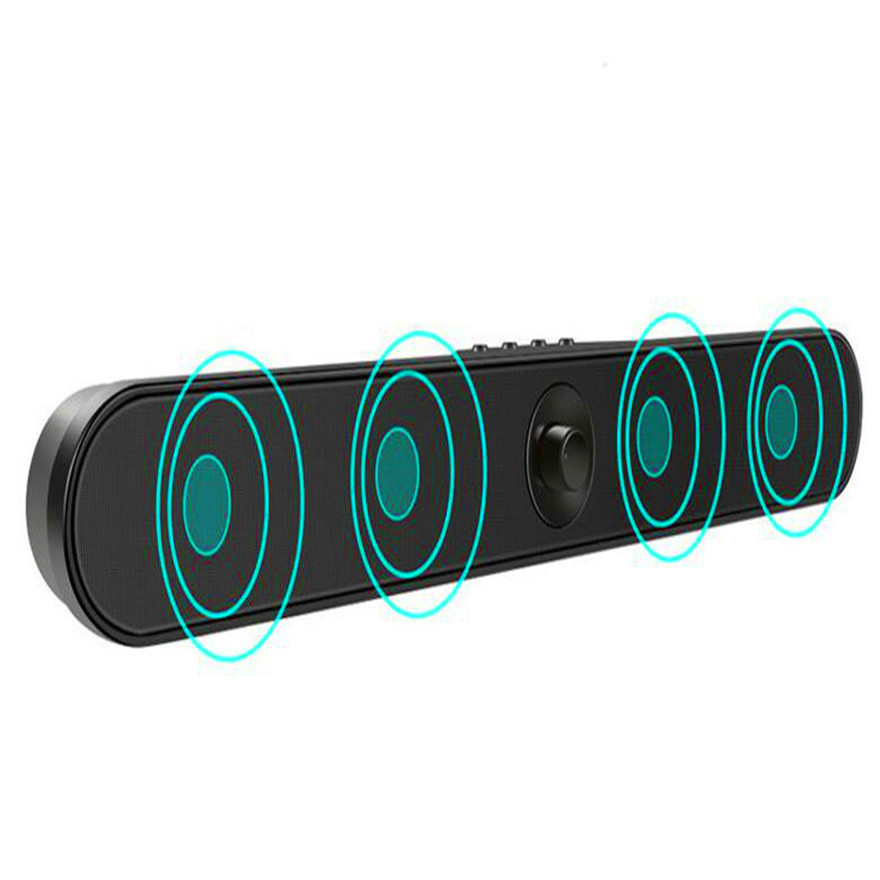 Portable Soundbar Music Column Mini Subwoofer Notebook Sound Box High Power Bluetooth Speaker Support TF USB FM Aux Hands Free getihu portable mini bluetooth speakers wireless hands free led speaker tf usb fm sound music for iphone x samsung mobile phone