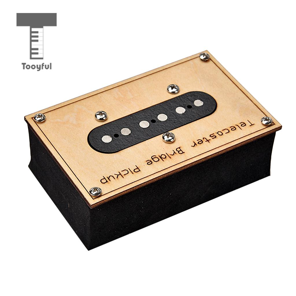Tooyful Guitar Bridge Pickup Single Core Copper Lead for Telecaster Electric Guitar new electric guitar strings chrome tele neck pickup telecaster