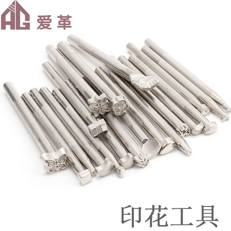 20pcs/lot Leather Tools Rotary Printing Carving Knife Hammer Arts Crafts Sewing Leathercraft