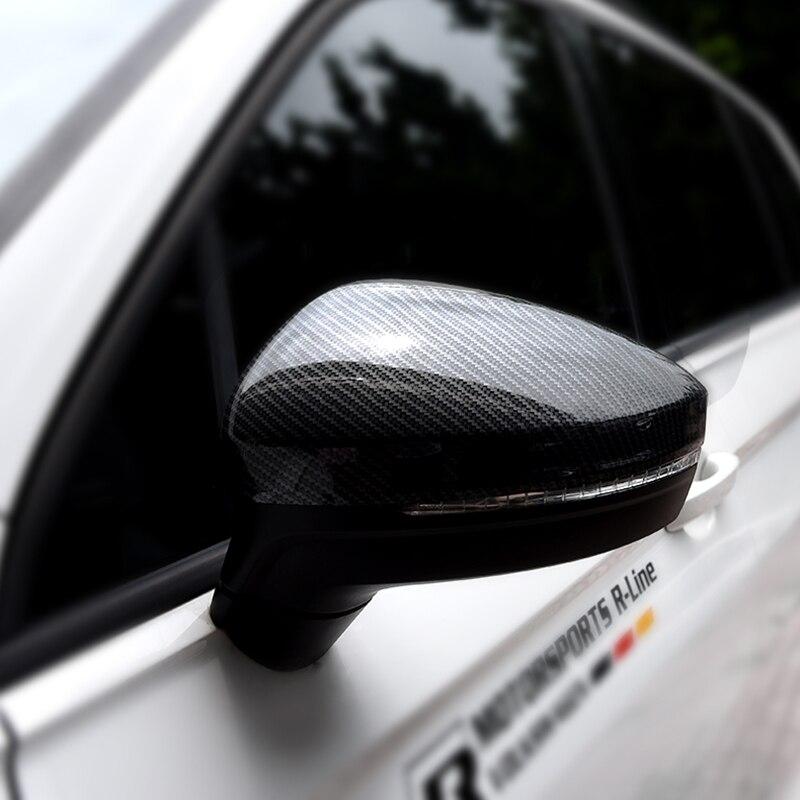 ABS Decoração retrovisor Retrovisor Tampa Espelho Lateral Guarnição Quadro Styling de Carro Para Volkswagen Tiguan L TiguanL MK2 2016 2017 2018