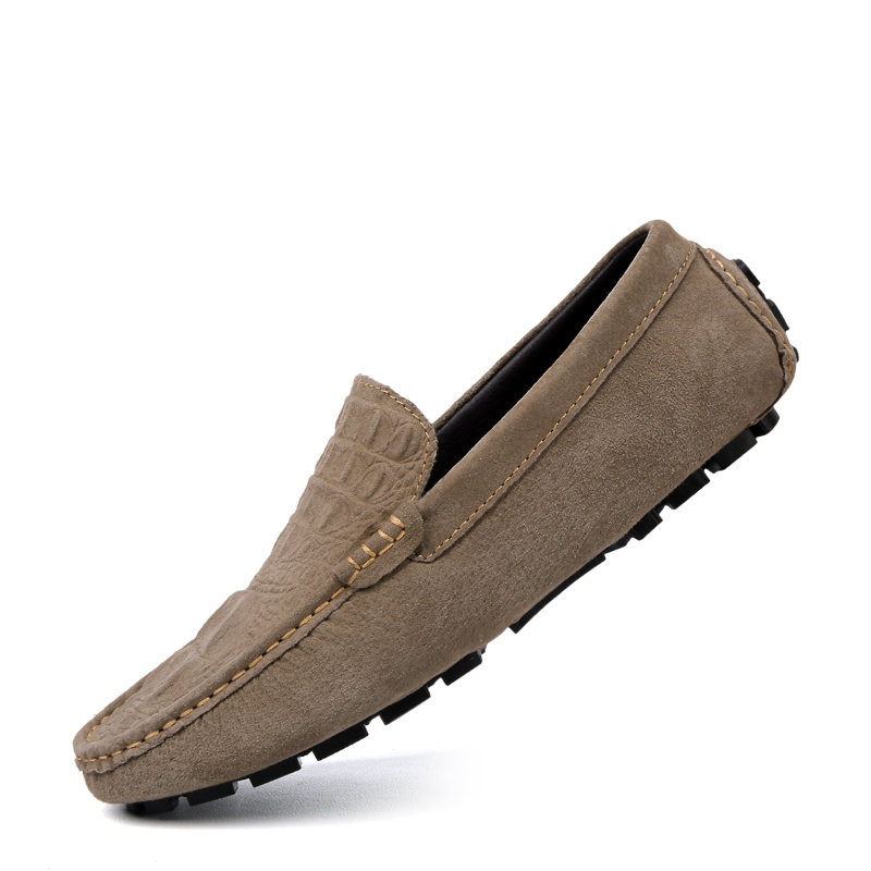 Brand Summer Causal Shoes Men Loafers Genuine Leather Moccasins Men Driving Shoes High Quality Crocodile Flats Shoes Size 38-46 summer causal shoes men loafers genuine leather moccasins men driving shoes high quality flats for man