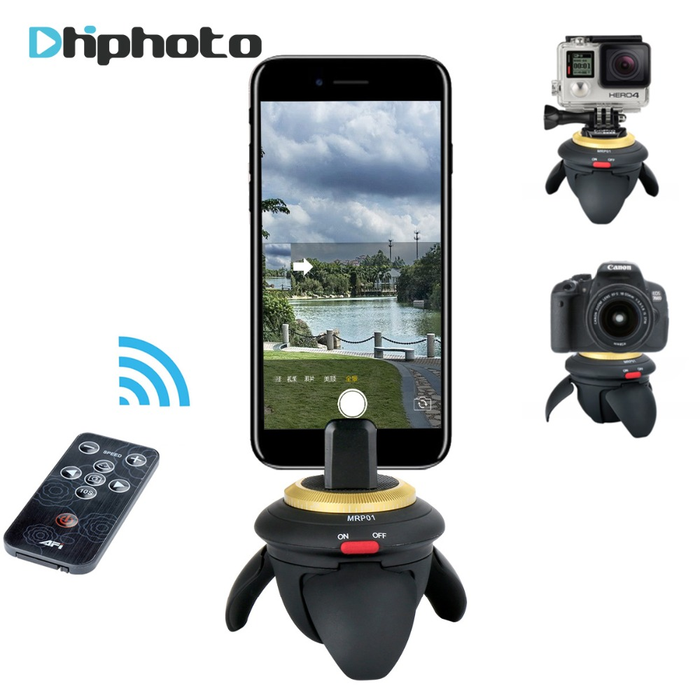 Electric Panoramic Pan Tripod Head 360 degree Motorized Time Lapse Rotator Selfie Stick for Smartphone Gopro SJCAM Action Camera