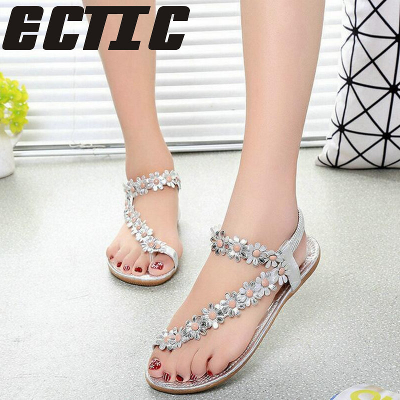 ECTIC New Women Sandals Summer Style Bling Bowtie Fashion Peep Toe Jelly Shoes Sandal Flat Shoes Woman 3 Colors Size 35-41 YY-38 summer 2017 new color crystal bling sandals woman anti skid hole jelly shoes flat garden beach rain shoes