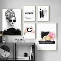 Livraison directe Art mural moderne peinture sur toile affiches nordiques et impressions animaux photos murales pour décor de salon