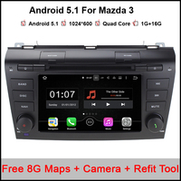 HD 1024 600 Quad Core 16G 7 Pure Android 5 1 1 Car DVD Player For