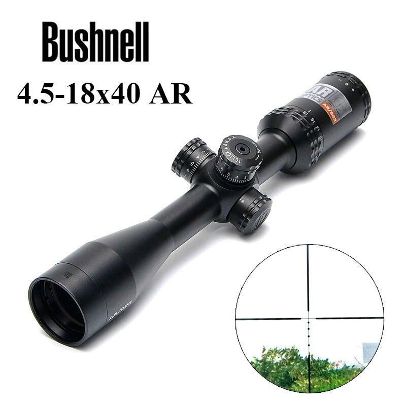 BUSHNELL 4.5-18x40 AR/223 Tactique Fusil Portée Extérieure Réticule Optique Vue Croix de Tir Longue Distance chasse Scopes