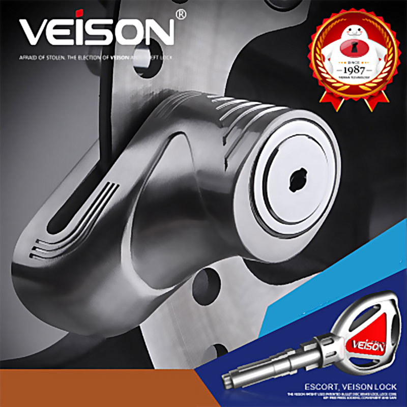 VEISON Motorcycle Lock 304 Stainless Steel Disc Brake Lock Maverick Car Lock Electric Car Safety Anti-Theft Lock For MTB Bike