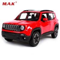 أطفال اللعب مايستو 1:24 red jeep المتمرد suv السيارات الرياضية 1/24 سبيكة دييكاست نموذج سيارة الأولاد هدية سيارة لعب لجمع