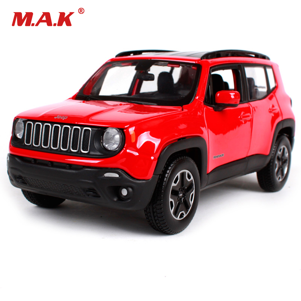 Kids Toys Maisto 1 24 Red Jeep Renegade Suv Vehicles