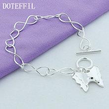 Doteffil 925 Стерлинговое Серебро две бабочки подвеска браслет