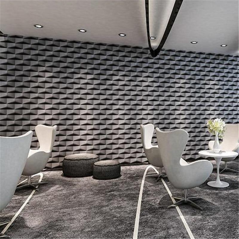 Us 30 16 48 Off Beibehang Modern Minimalist Black Personality Triangle Brick Pattern Wallpaper Living Room Wall White Lattice Brick Wallpaper In