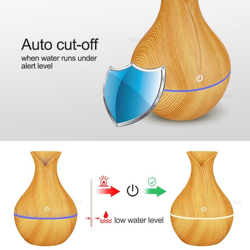 KBAYBO electric humidifier aroma oil diffuser ultrasonic wood ...