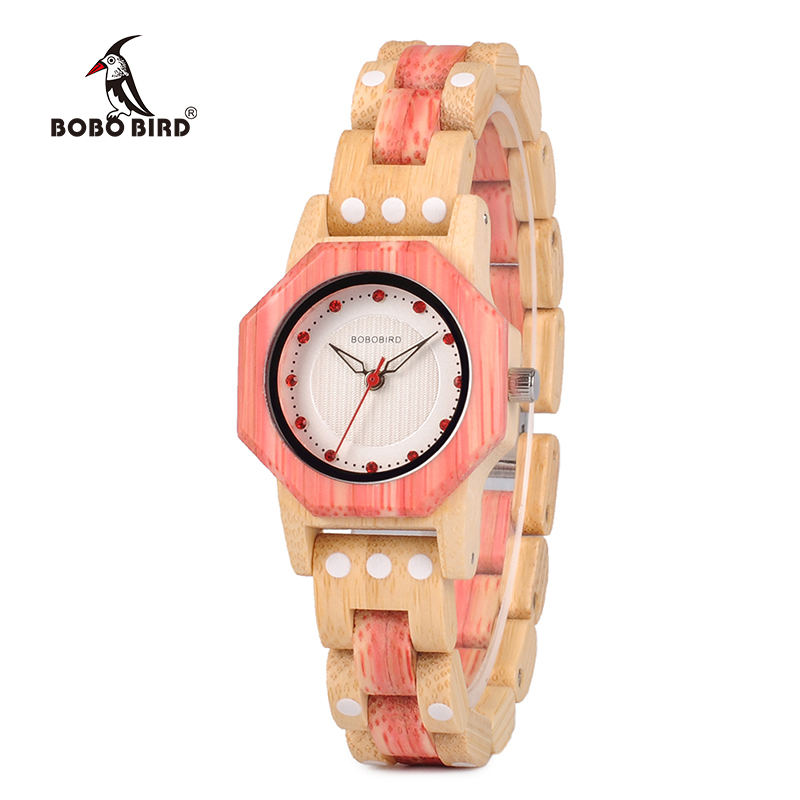 BOBO BIRD Women Watches Wooden ladies bamboo Quartz wrist watch Gift for Girl Friend Imitation diamond in wood box bobo bird women wooden bamboo watches ladies quartz watch gift for girl in wood box custom logo