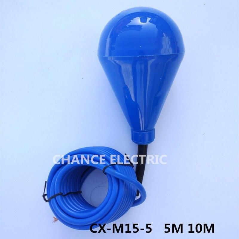 Interrupteur à flotteur 5 m Type de câble contrôleur de niveau d'eau liquide à bille pour capteurs de débit de M15-5 de réservoir - 2