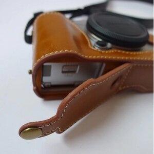 Image 5 - Metade Da Tampa Do Caso de couro Da Câmera para Fujifilm XF10 XT2 XT3 XT100 XA5 XT10 XT20 XT30 X100F XA1 XA2 XA3 XA10 XF10 X100S T Saco de Fundo